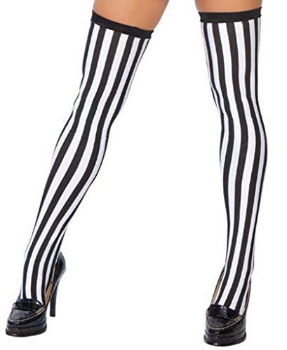 Sexy Sporty Referee Stockings Halloween Accessory