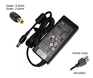 "Laptop Notebook Charger for Fujitsu-Siemens Amilo Xi2428 Xi2528 Adapter Adaptor Power Supply ""Laptop Power"" Branded (Power Cord Included)"