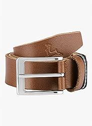 Parx Medium Khaki Leather Men's Belt