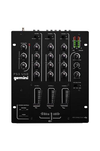 Mixeurs dj gemini ps3 usb table de mixage 3 voies avec - Table de mixage avec carte son integree ...