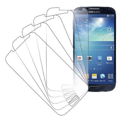 Samsung Galaxy S4 Screen Protector Cover, MPERO Collection 5 Pack of Clear Screen Protectors for Samsung Galaxy S4 / S IV (Cell Phone Screen Covers compare prices)