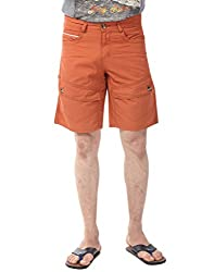 YOO Orange color SHORTS for men