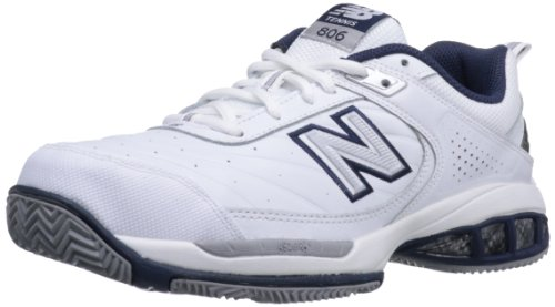 New Balance Men's MC806 Tennis Shoe,White,10 2E US