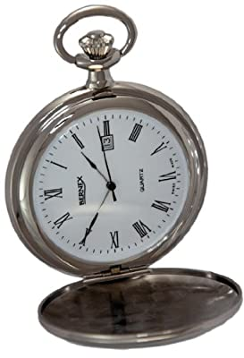 Bernex Pocket Watch GB21215 Rhodium Plated Full Hunter