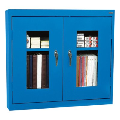 See-Thru Clearview Wall Storage Cabinet (Large - Blue)