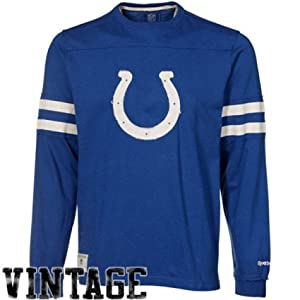 Reebok Indianapolis Colts Vintage Applique Long Sleeve T-Shirt by Reebok