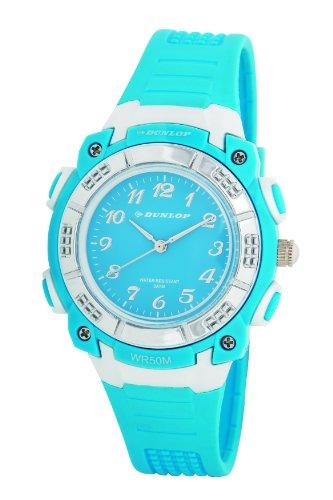 Dunlop DUN-243-L04 - Orologio da polso, donna, plastica, colore: blu