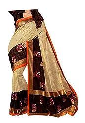 Bansy Fashion Beige Coloured Bhagalpuri Silk Printed Saree