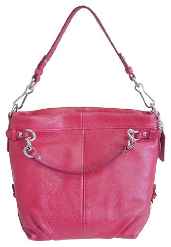 Coach Brooke Leather Carly Shoulder Hobo Bag Purse Tote 14112 Cherry