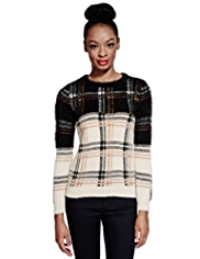 Limited Edition Checked Jumper with Wool