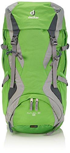 Deuter - Zaino Futura 30, Verde (Spring/Silver), 66 x 30 x 21 cm