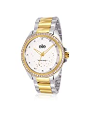 Elite Analog Ladies Dress White Dial Women's Watch - E53534G/301