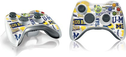 Skinit University of Michigan Pattern Print Vinyl Skin for 1 Microsoft Xbox 360 Wireless Controller