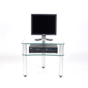 RTA Home And Office Glass And Aluminum 24 Inch And Below Plasma /Lcd Tv Stand