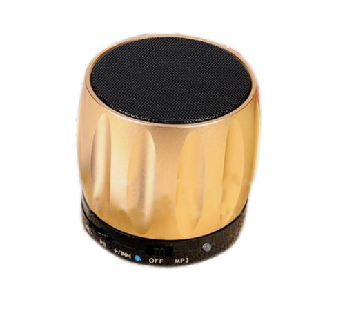 Coluub Bluetooth Speaker Mp3 Speaker Card Reader Function For Mobile Phone With Bluetooth Color Golden