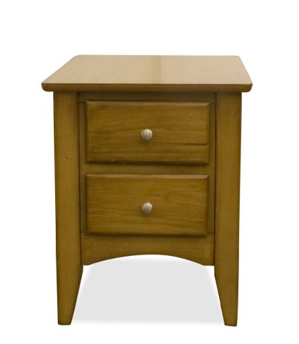 Buy low price end table by riverside light wood 22409 for Light wood side table