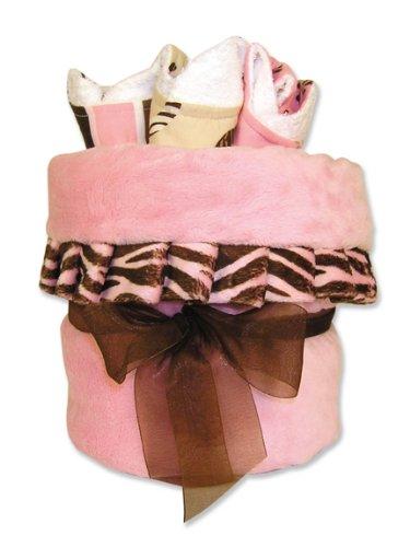 pink and white zebra cake. pink and white zebra cake.