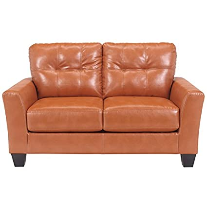 Flash Furniture Benchcraft Paulie Loveseat in DuraBlend, Orange