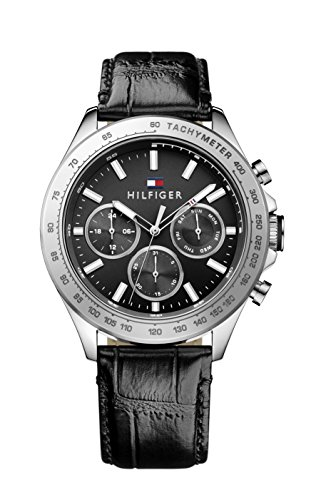 tommy-hilfiger-hudson-mens-quartz-watch-with-black-dial-analogue-display-and-black-leather-strap-179