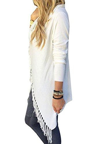 Donna Irregolare ciolto Casual Jacket Cardigan Sweatshirt Manica Lunga Nappa Slash Camicetta Supera Camicia Cardigan Casual Pullover Tops