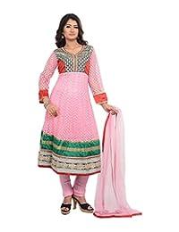 Sareeshut Women's Net Regular Fit Anarkali Suits - B00WQZ3LQM