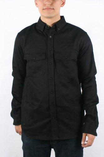 Diamond Supply - Mens OG Twill L/S Hunter Long Sleeve T-shirt in Black, Size: Small, Color: Black