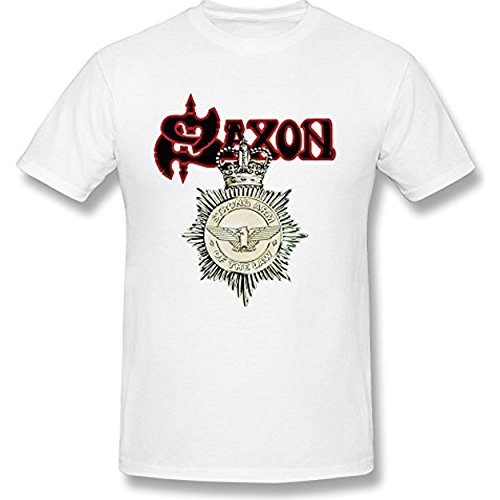 Fly&Tian Men's SAXON Strong Arm Of The Law REMASTERED T-shirt