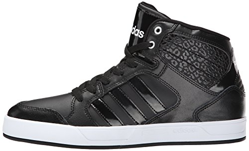 Adidas NEO Women's Bbadidas Performance Raleigh Mid W Basketball Fashion Sneaker,Black/Black/White,9 M US