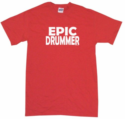 epic-drummer-big-boys-kids-tee-shirt-youth-small-red