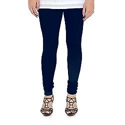 Vami Cotton Churidar Leggings in Navy Blue Color _VM1001(23)