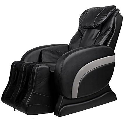 Massagesessel Queen Deluxe Elektrischer aus Kunstleder schwarz Comfort Relax
