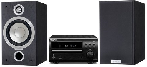 Review and Buying Guide of Cheap Denon DM39DAB Black + Tannoy Mercury V1i Dark Walnut (R)