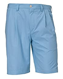 Cutter & Buck Orin Fine Twill Pleated Light Blue Shorts (50 Big)
