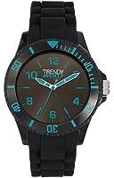 Trendy Junior - KL 279 - Montre Garçon - Quartz Analogique - Cadran Noir - Bracelet Silicone Noir