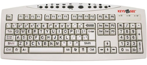 Keys-U-See Large Print USB Computer Keyboard