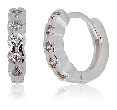 mia-sarine-18k-white-gold-sterling-silver-diamond-cut-cubic-zirconia-huggie-womens-earrings