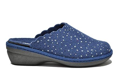 Melluso Ciabatte scarpe donna blu PLANTARE ESTRAIBILE PD306 38