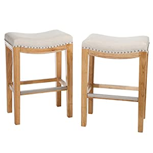 best selling andres backless counter stools off white set of 2 kitchen dining. Black Bedroom Furniture Sets. Home Design Ideas