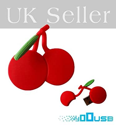 4GB Novelty Cartoon Cute Red Cherry USB Flash Key Pen Drive Memory Stick Gift UK [PC] by YooUSB