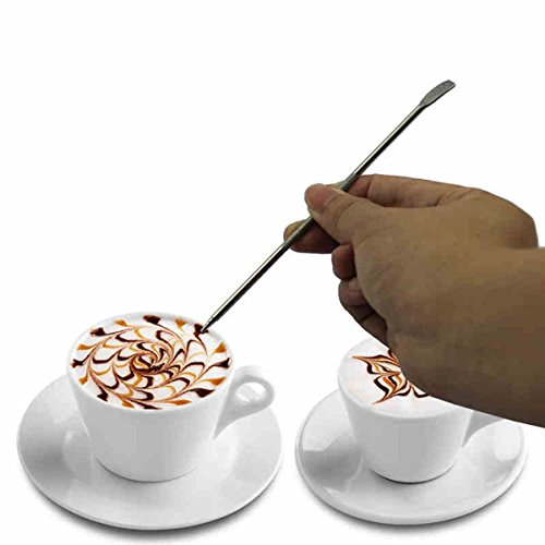 Aliciashouse Caffè dell'acciaio inossidabile della penna di arte Fancy ago Latte Cappuccino Macchina Caffè utensili