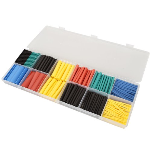 Vktech 280Pcs 2:1 Heat Shrink Tubing Tube Sleeving Wrap Cable Wire 5 Color 8 Size (5 Color) (Shrink Wire Wrap compare prices)