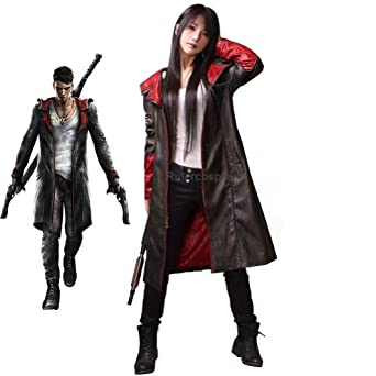 May Cry 5 Dante Leather Coat Cosplay Costume - Deluxe Ver.: Clothing