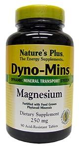 Dyno-Mins Magnesium 250mg Nature's Plus 90 Tabs