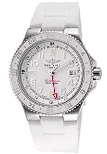 Breitling Superocean GMT A32380A9-A737-RT 41mm Automatic Stainless Steel Case White Rubber Sapphire Crystal Men's Watch