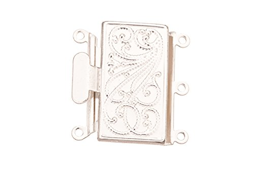 filigree-line-square-3-strand-box-clasp-silver-plated-brass-217x227mm-sold-per-pack-of-1-3pack-bundl