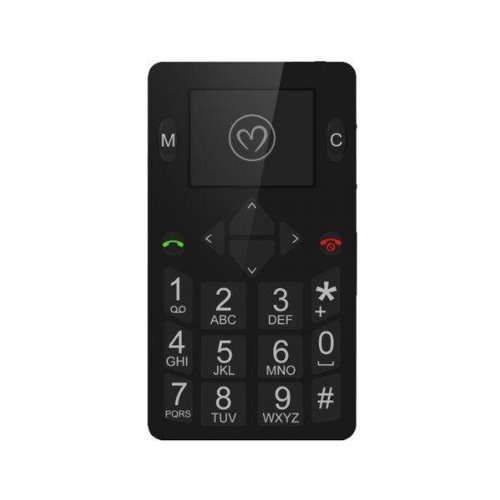 Micro-Phone クレジットカードサイズ 海外用SIMフリーGSM携帯電話 MP001Bブラック 世界最薄5.5mm