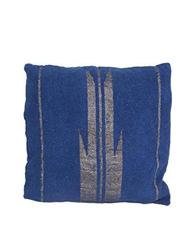 Aviva Stanoff Metallic Yarn Floor Cushion, Blue