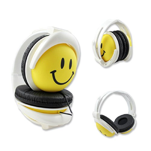 Foldable Smile Happiness Overhead Kids Dj Headphones Earphone