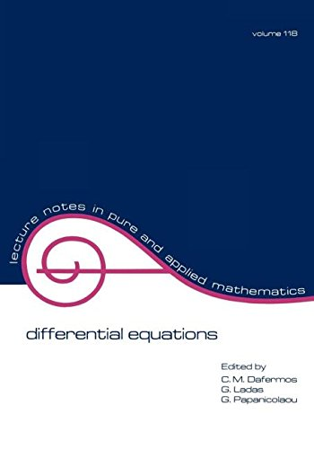 Differential Equations: Proceedings of the 1987 Equadiff Conference (Lecture Notes in Pure and Applied Mathematics)