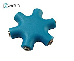 iConnect World - Y-Cable 3.5mm Jack Splitter (Multi Blue)